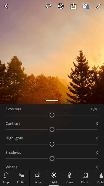Aplikace Lightroom